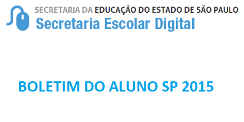 BOLETIM DO ALUNO SP 2015